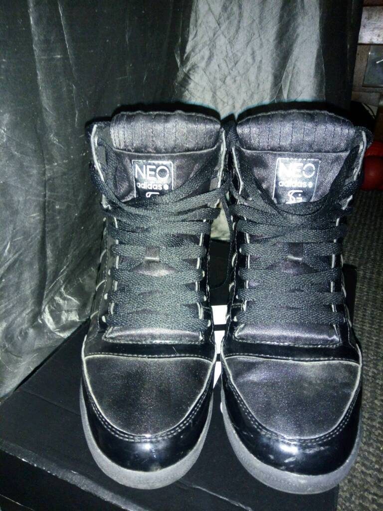 detailed images get new vast selection Adidas NEO Selena Gomez Hi Top Wedge Trainers - Black Sateen Patent UK 6 |  in Goole, East Yorkshire | Gumtree