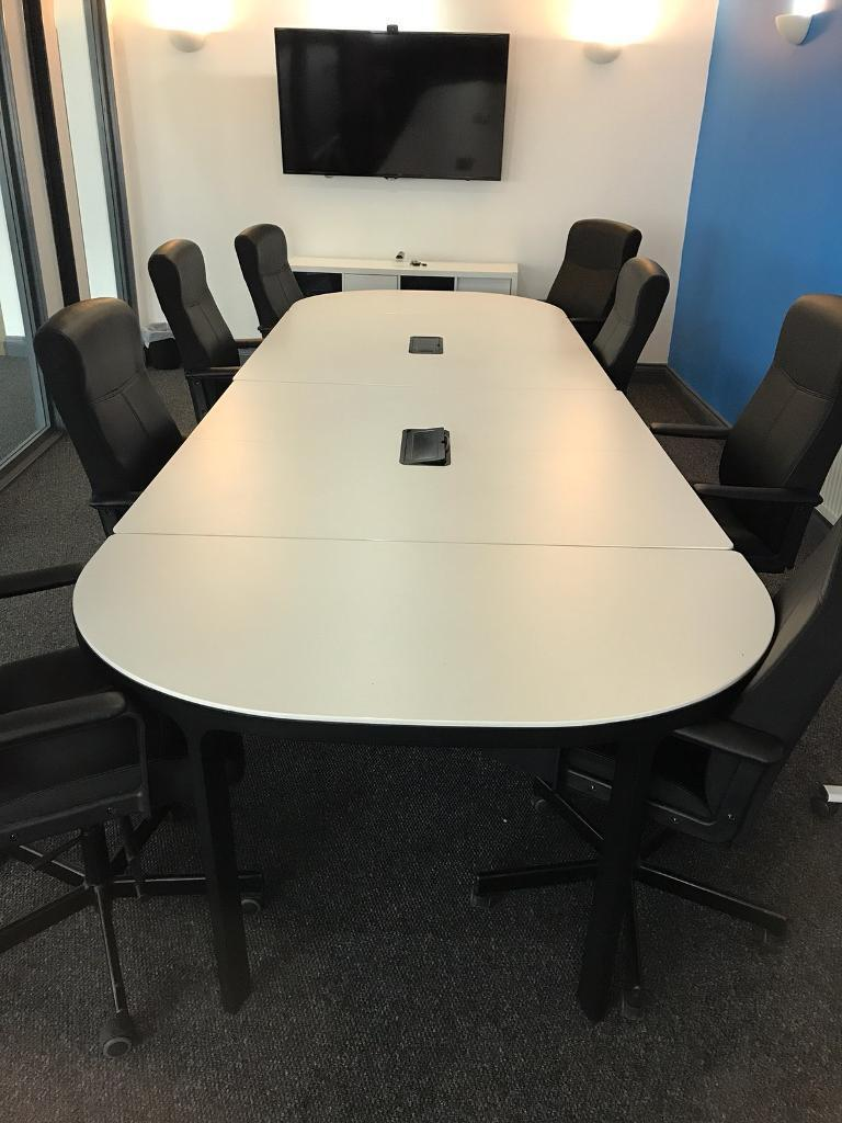 Ikea white meeting / confrence table