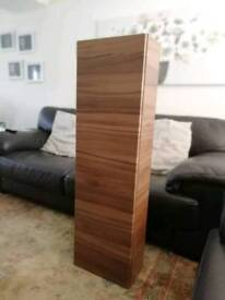 Tall Wall Mounted Walnut Cabinet - Ideal for Bathrooms - Brand New in Box - RRP £360