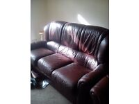 Leather 3 Piece suite Good Condition