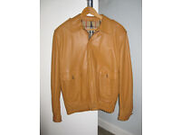 Burberry leather jacket for man