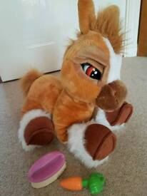 """14"""" Emotion pets Toffee Brown Horse/Pony interactive soft toy"""