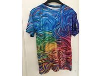Acidmath Colour Waves tshirt, size S