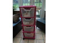 Storage box/draws pink