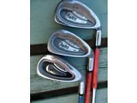 Ryder golf clubs 3-9, S, P & golf bag.
