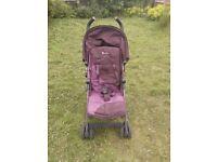 Silver Cross purple folding baby/kids pram + rainhood GC up to 25Kg £35 ono
