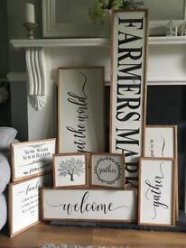 🌿 Wooden bespoke, farmhouse personalised and custom wooden signs 🌿
