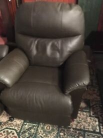 Brown Leather Electric Reclining Chairs