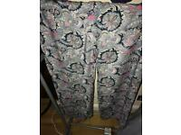 Ladies wide leg paisley pattern trousers