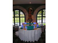 Large 44in Chocolate Fountain and Illuminated surround