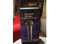 Stagg MD-1500 Pro Stage Dynamic Microphone + XLR Cable - In Box, Never Used