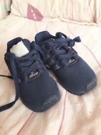 Boys navy addidas trainers