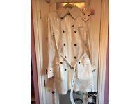Women's Burberry rain coat with hood