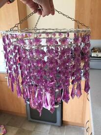 Purple Chandelier Pendant Lamp Shade