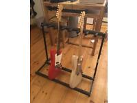 Multiple multi guitar rack stand