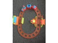 Large Happyland bundle - train set, garage, sports day and preschool