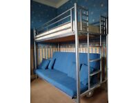 Jaybe sofa bunk bed with single mattress and four cushions (assembly instructions included)