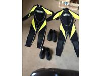 Children's wet suits and boots