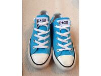 Converse trainers size 4 in fab blue colour