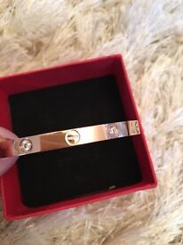 Rose gold Cartier Bracelet WOMENS one size with screw