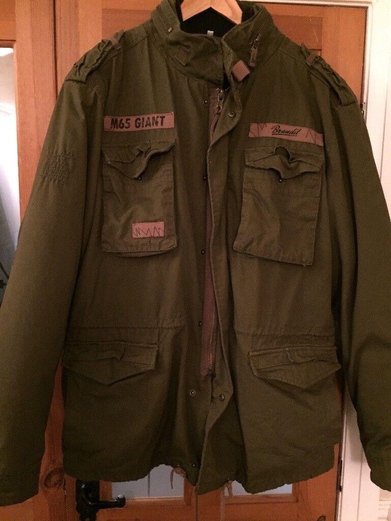 Brandit coat with inner fleece detachable jacket size XL