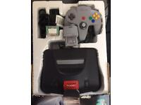 N64 boxed + 4games - gadgets