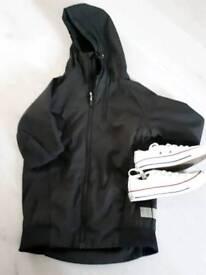 Boys coat & Converse