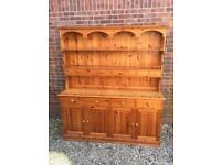 Lovely solid pine Welsh Dresser with 8 spice Drawers. Possible delivery