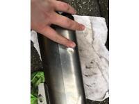 akrapovic slip on can exhaust cash or swap for helmet