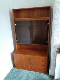 Pair of display cabinets/bureaus in teak in excellent condition