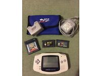 Nintendo GameBoy Advance with chargeable power pack and games