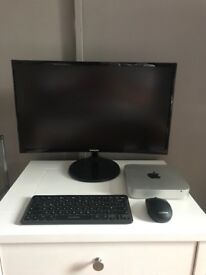 "Apple Mac Mini w/ Samsung 24"" Curved Monitor"