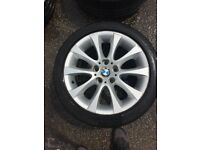"BMW 3 SERIES ALLOYS FROM 17"" good tyres"