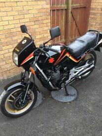 1985 gsx 550 e. 12300 mls linked to joey dunlop px swop sidecar trike A totally original bike