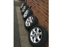 "GENUINE - Land Rover Freelander 1 - 17"" Alloys with tyres x 5"