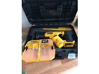 Dewalt dcs387 18v reciprocating saw. Bare and tstak carry case