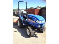 ISEKI TH 4365 COMPACT TRACTOR WITH FLAIL MOWER ONLY 58 HOURS USE