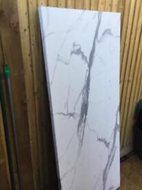 Worktop white/ grey marble effect