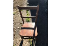 small pine bedroom chair