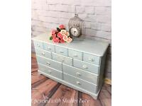 Hand Painted Shabby Chic SIDEBOARD / CHEST OF DRAWERS