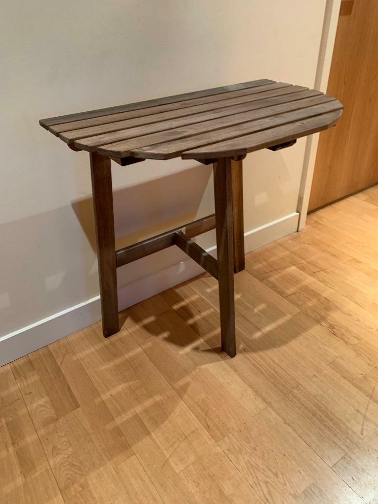 Garden balcony foldable table