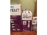 NEW Avent breast pump , new bottles and new teats