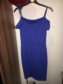 women blue evening dress