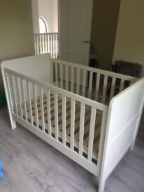 Mamas and Papas ivory cot bed