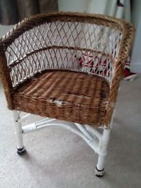 Child's wicker chair, project cheap