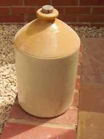 old pot with original cork stopper
