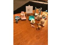 Sylvanian families children characters with accessories