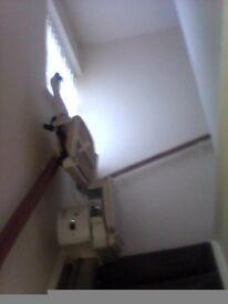 Left hand straight stairlift for sale
