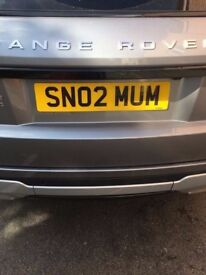 Bargain at this price Private plate registration SN02 MUM perfect present bday xmas mothers day !!