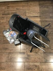 Child bike seat - Hamax Smiley with 3-point harness, mounting bracket and instructions